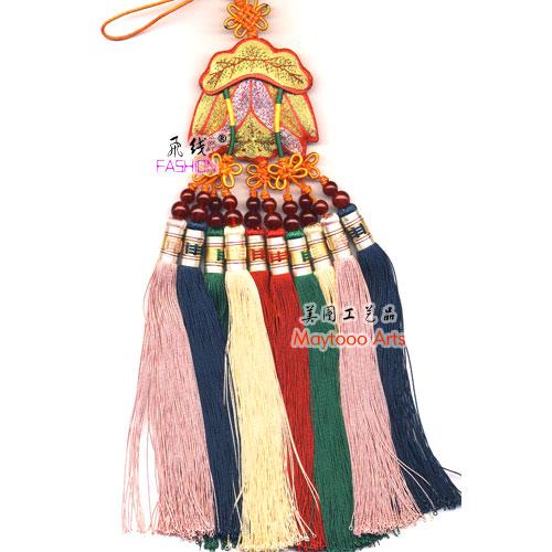 十穗挂件 莲花 汽车挂件 苏州刺绣 纯手工制作 江南特色礼品