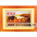 飞线美图 苏州电脑刺绣 机绣软裱 风景 金色的秋天
