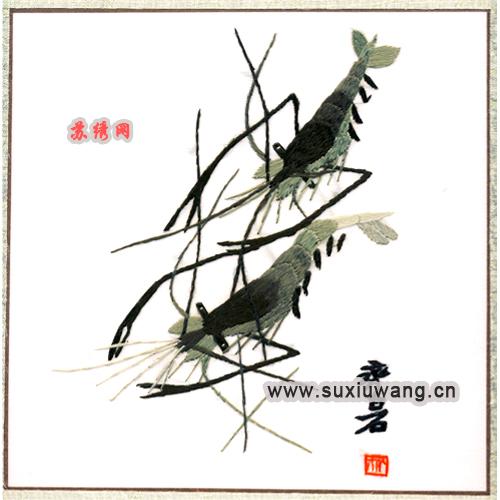 苏绣软裱 纯手工刺绣 特色礼品 花鸟鱼虫 虾
