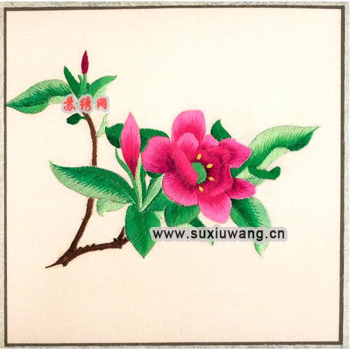 苏绣软裱 纯手工刺绣 装饰画